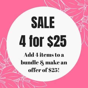 ❤️ 4/$25 JEWELRY + FREE GIFT